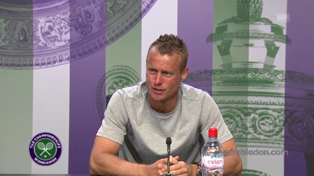 Video «Tennis: Wimbledon, PK Hewitt» abspielen