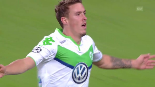 Video «Fussball: CL, Wolfsburg - Eindhoven, Tor von Max Kruse» abspielen
