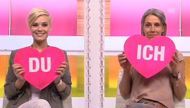Video ««Ich oder Du»: Dominique Rinderknecht und ihr Mami Helen» abspielen
