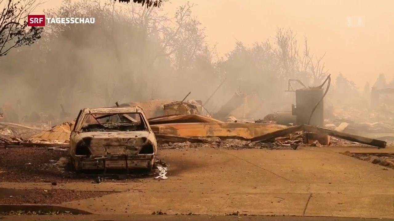 Kaliforniens Weinberge in Brand