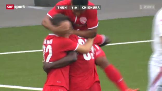 Video «Fussball: EL-Quali, Thun - Tschichura Satschchere» abspielen