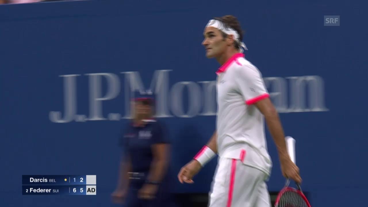Tennis. US Open, 2. Runde, Federer-Darcis