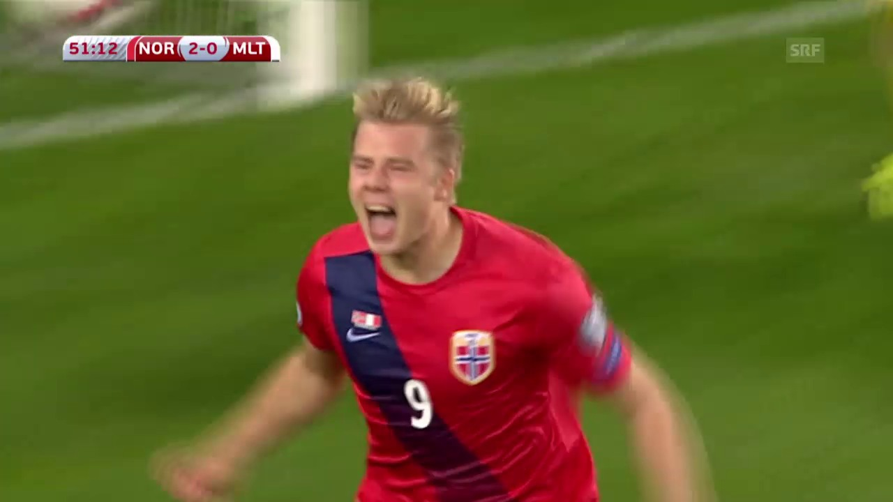 Fussball, EURO-Qualifikation, Norwegen-Malta, Tore