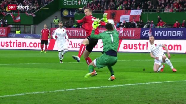 Video «Zusammenfassung: Österreich - Albanien» abspielen