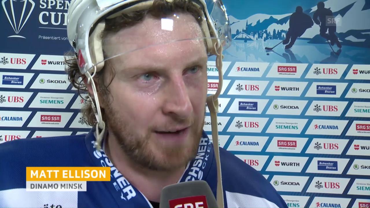 Ellison: «Ihr Goalie war stark» (engl.)