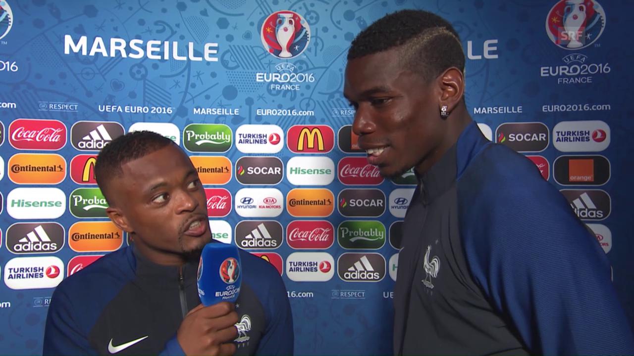 Evra und Pogba interviewen sich gegenseitig