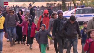 Video «12 000 Flüchtlinge in 24 Stunden » abspielen