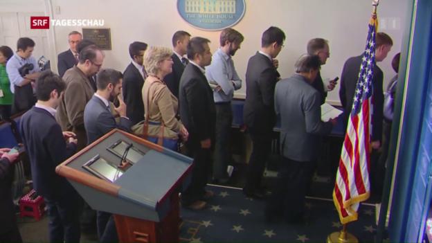 Video «Machtkampf zwischen Trump und Medien» abspielen