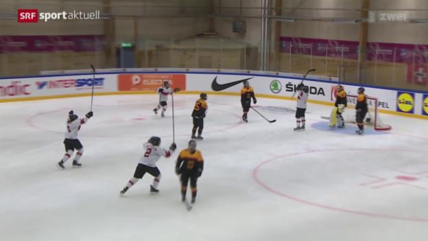 Video «Eishockey: WM der Frauen, Schweiz - Deutschland» abspielen