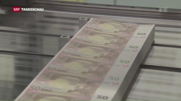 Video «EZB bleibt bei der lockeren Geldpolitik» abspielen