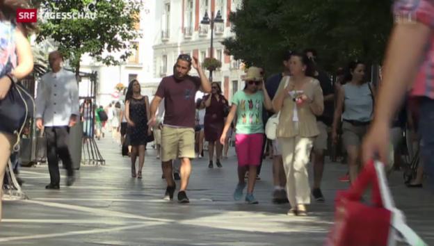 Video ««Uns hilft auch niemand»: Spanier zur Griechenland-Krise» abspielen