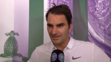 Video «Federer: «Immer schön, hier gegen Briten zu spielen»» abspielen