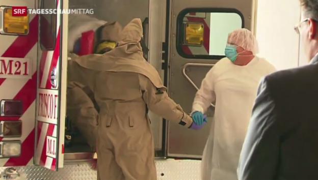 Video «Ebola-Test in den USA» abspielen