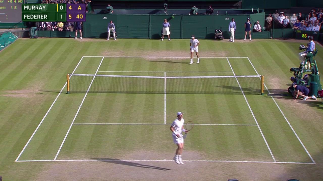 Tennis: Wimbledon, Federer - Murray, Long Game