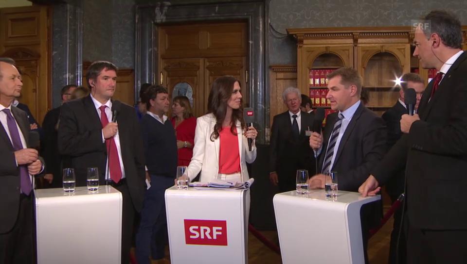 Erste Reaktionen der Parteipräsidenten