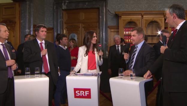 Video «Erste Reaktionen der Parteipräsidenten» abspielen