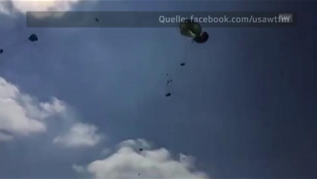Video «Übungsabwurf in Hohenfels» abspielen