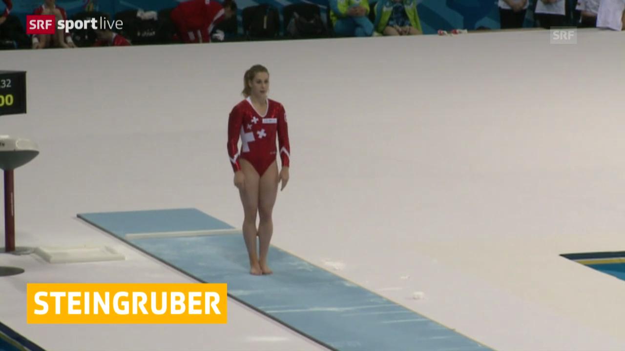 Kunstturnen: Europameisterschaft in Sofia, Giulia Steingruber überzeugt in der Qualifikation