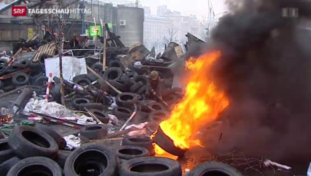 Video «Gewalt in Kiew nimmt kein Ende» abspielen