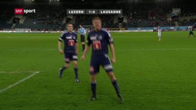Video «Fussball: Luzern - Lausanne» abspielen
