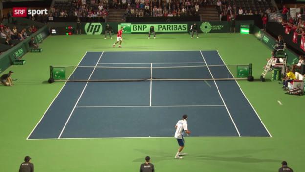 Video «Davis Cup: Wawrinka - Gomez («sportaktuell»)» abspielen