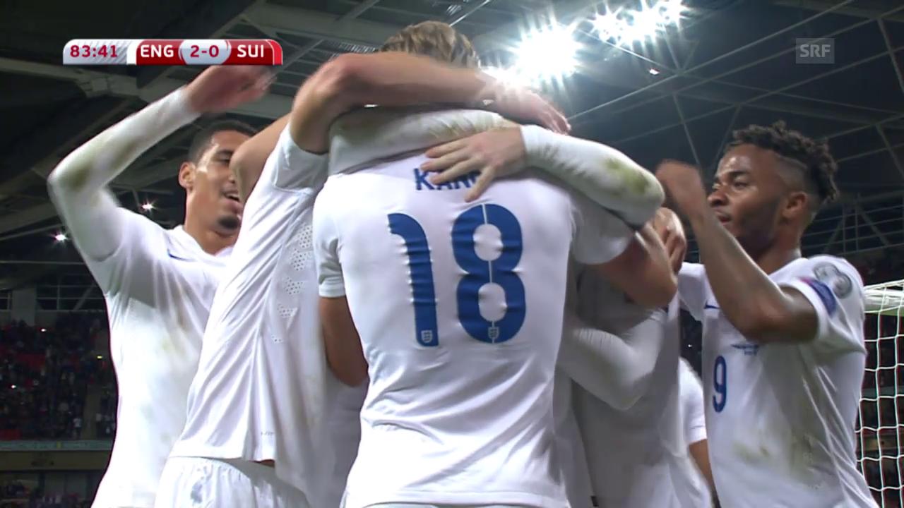 England-Schweiz: Die Live-Highlights