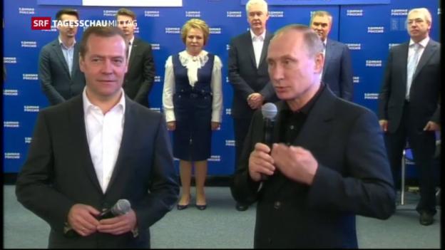 Video «Putins Partei räumt ab» abspielen