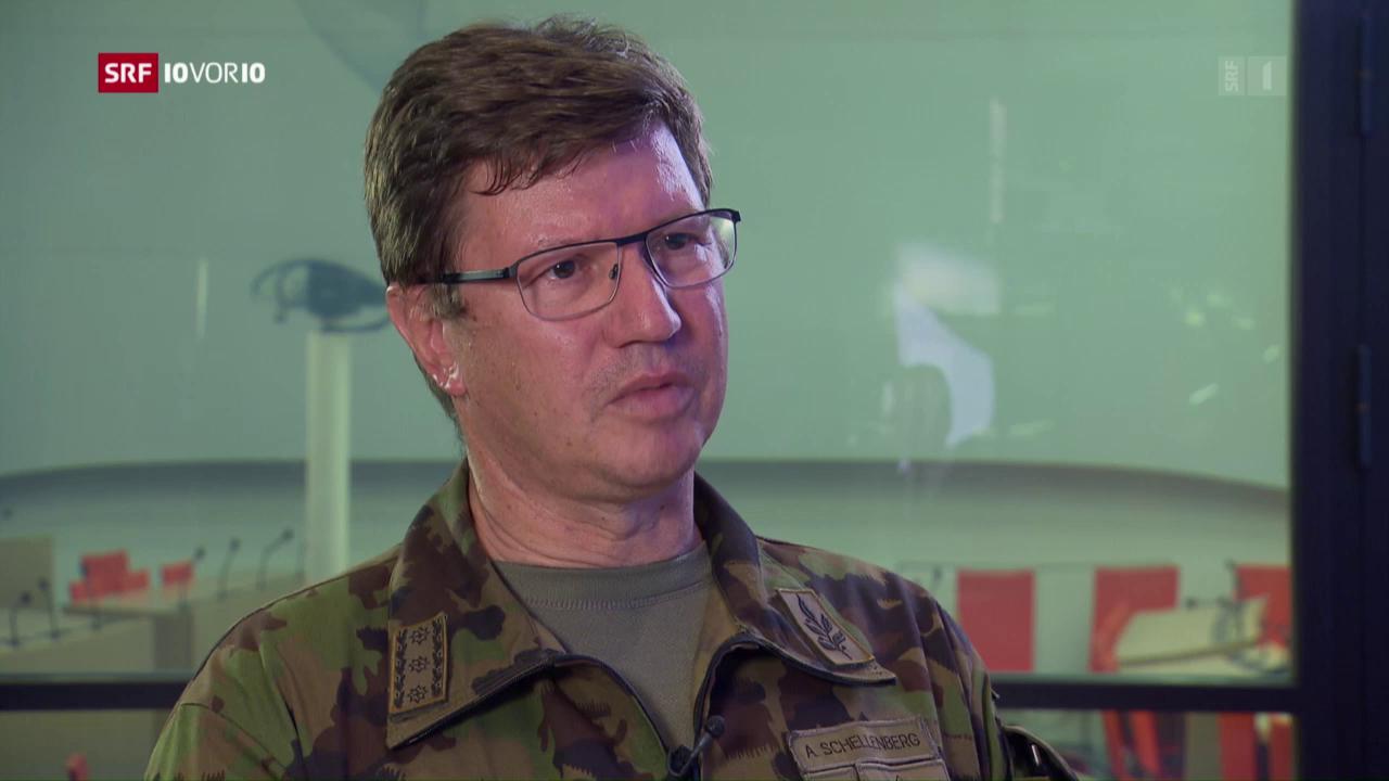Luftwaffenschef Schellenberg zum Absturz