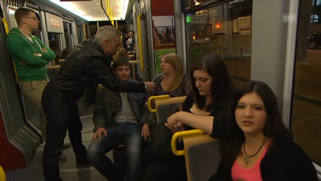 Dani Fohrler im Tram-Zürich-West