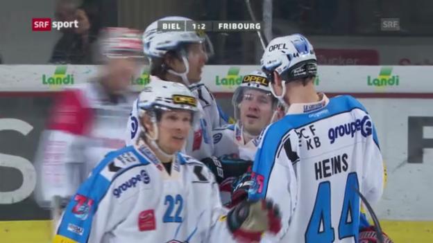 Video «Eishockey: Biel - Fribourg» abspielen