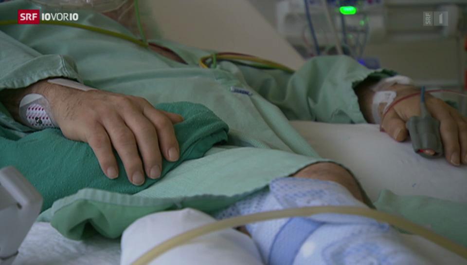 Spitalbett als Grippefalle