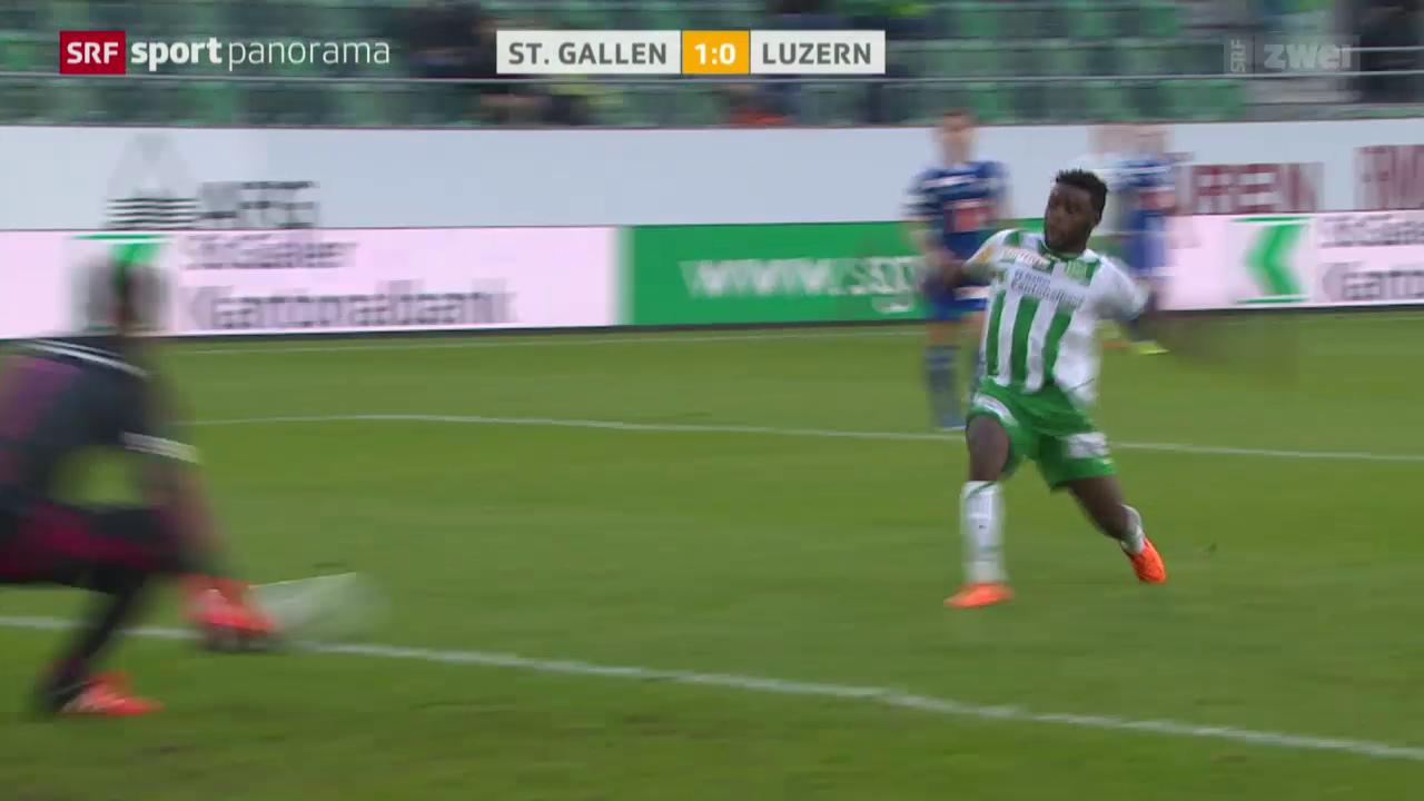 Fussball: Super League, St. Gallen - Luzern, Tor Salli