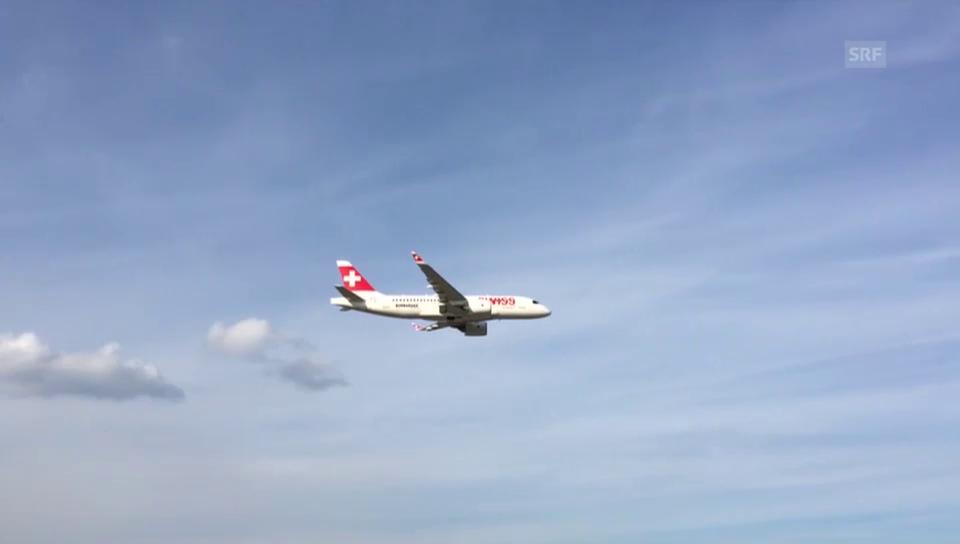 Ankunft des neuen Jets der Swiss