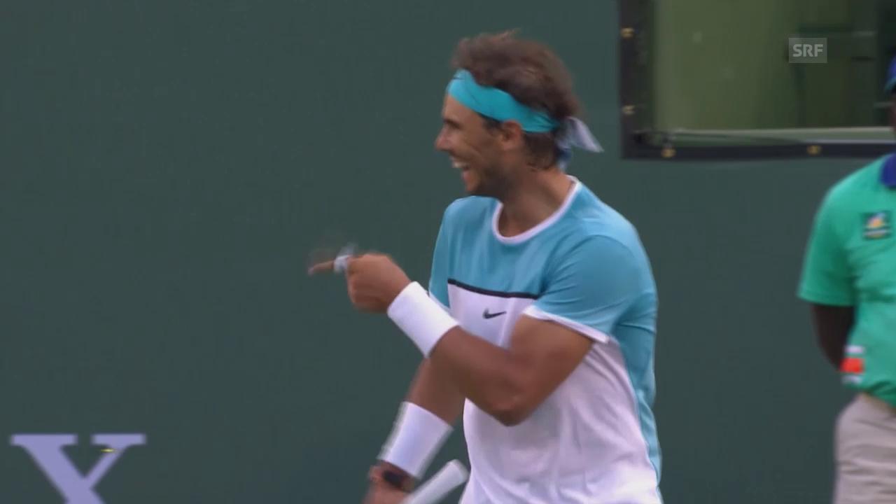 Nadal schrammt gegen Zverev am Out vorbei