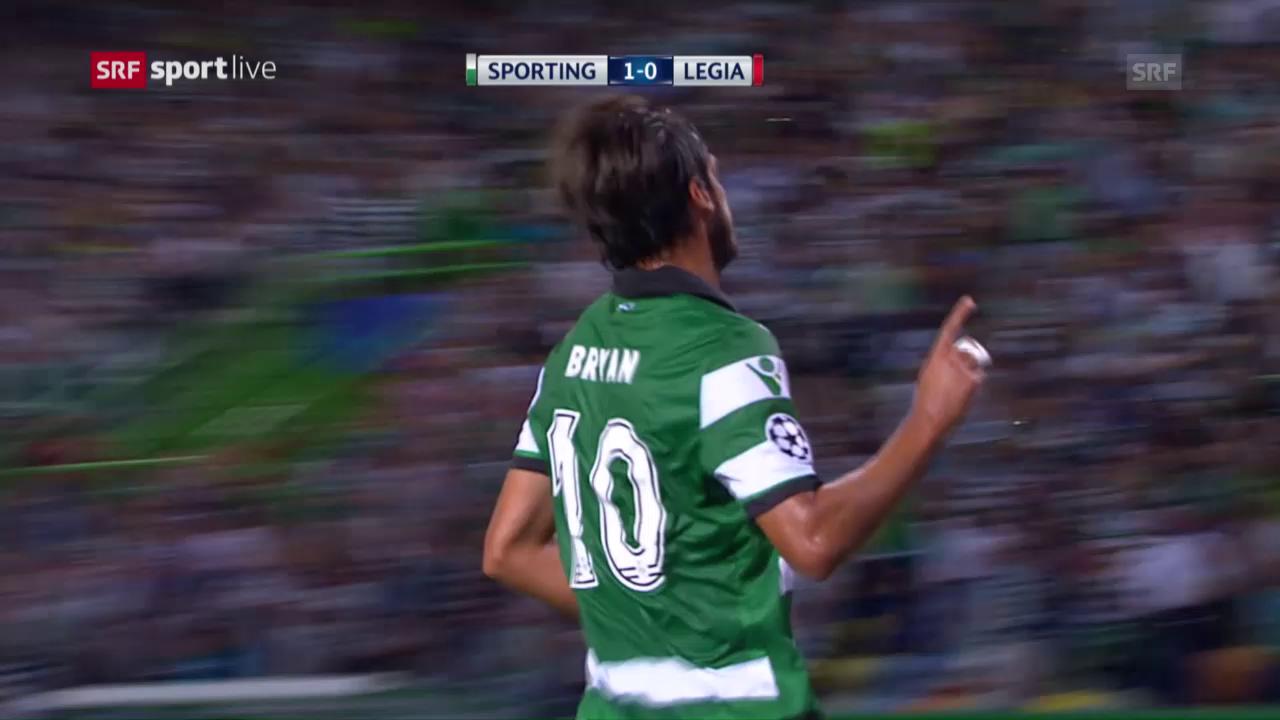 Sporting schlägt Legia mit 2:0
