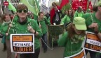 Video «Belgien demonstriert gegen Arbeitslosigkeit in der EU» abspielen