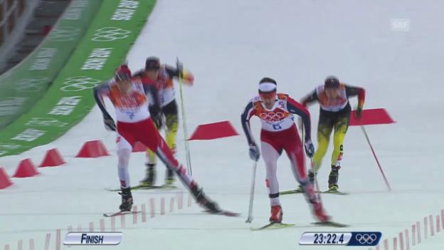 Video «Nordische Kombination: Langlauf 10 km (sotschi direkt, 18.2.2014)» abspielen