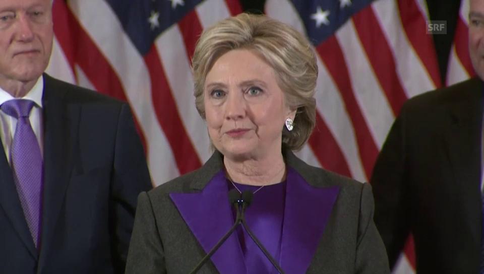 Clinton dankt den amerikanischen Frauen
