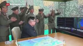 Video «Nordkorea schiesst gegen Japan» abspielen