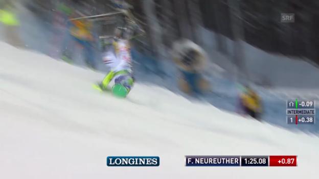 Video «Ski Alpin: Der Sturz von Felix Neureuther» abspielen