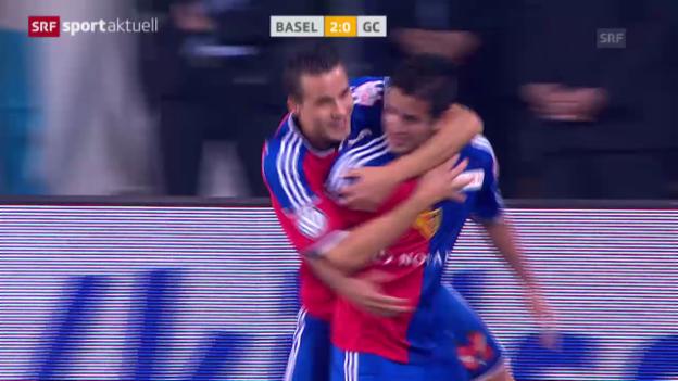 Video «Fussball: Matchbericht Basel-GC («sportaktuell»)» abspielen