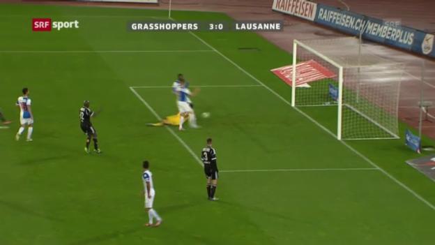 Video «SL: Zusammenfassung GC - Lausanne («sportaktuell»)» abspielen