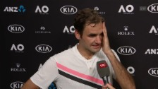 Link öffnet eine Lightbox. Video Federer: «Er ist immer gefährlich» abspielen