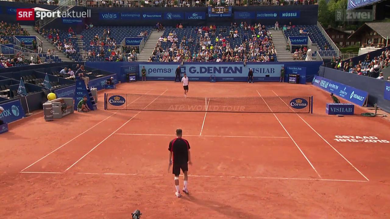 Tennis: Chiudinelli in Gstaad ausgeschieden