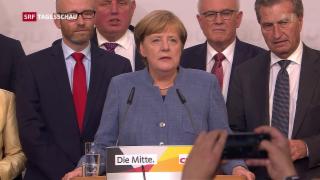 Video «Merkel bleibt Kanzlerin - SPD will in Opposition gehen» abspielen