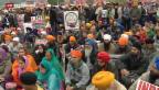 Video «3000 Sikhs vor dem Uno-Sitz in Genf» abspielen
