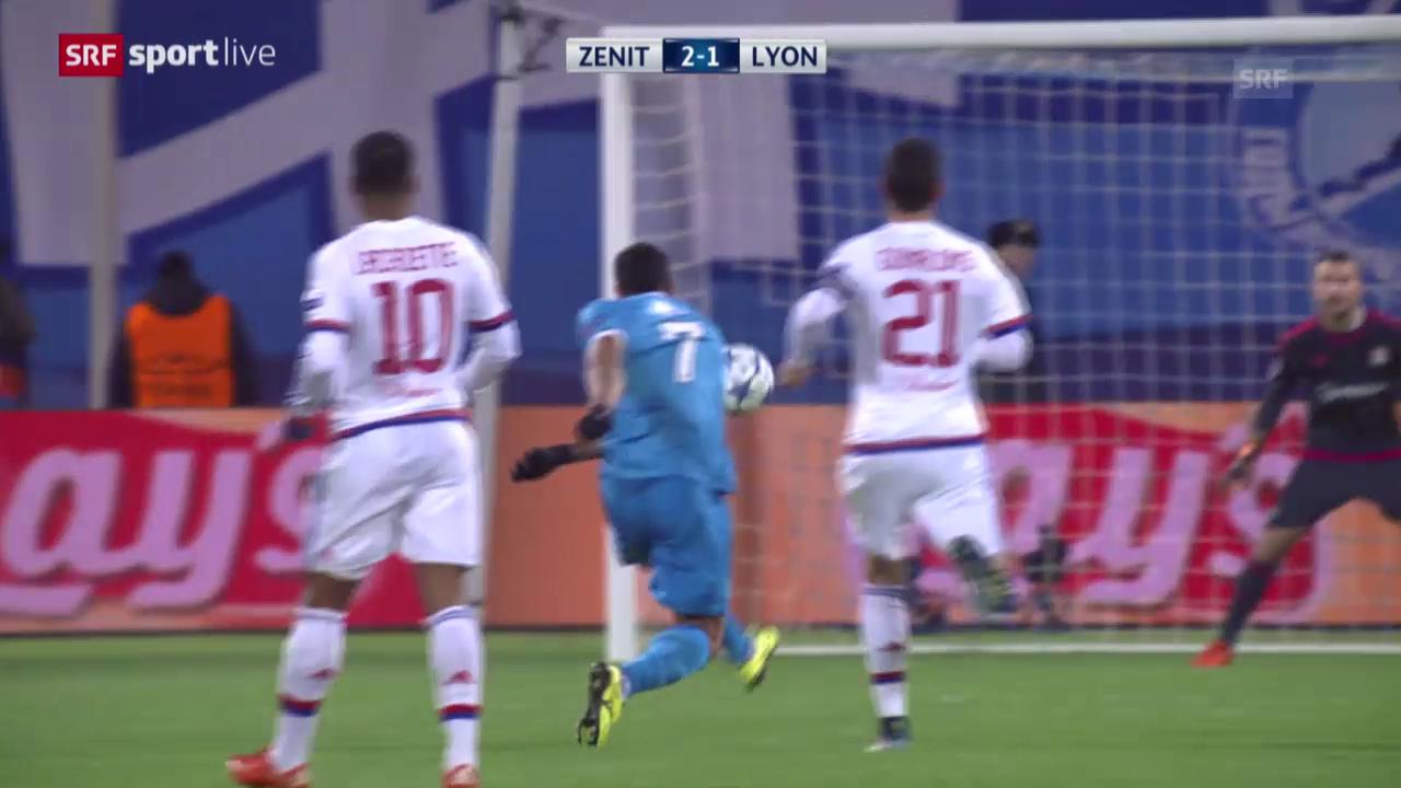 Fussball: Champions League, 3. Runde, Zenit - Lyon