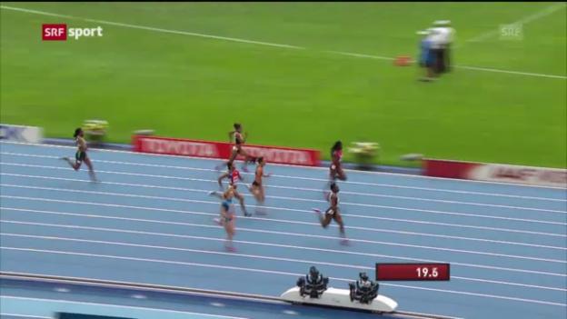 Video «LA-WM: Kambundjis Vorlauf über 200 Meter («sportaktuell»)» abspielen