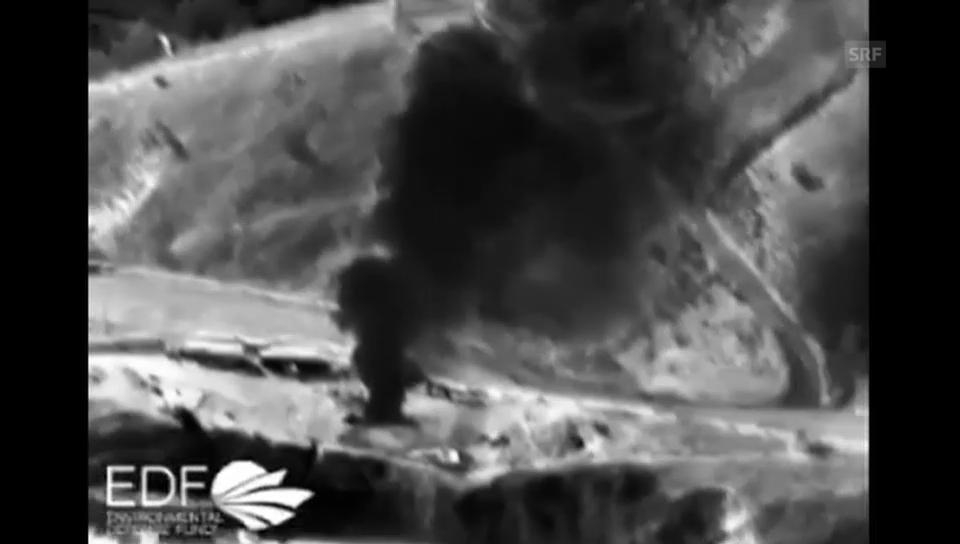Infrarotbilder zeigen den Gasaustritt (unkommentiert)
