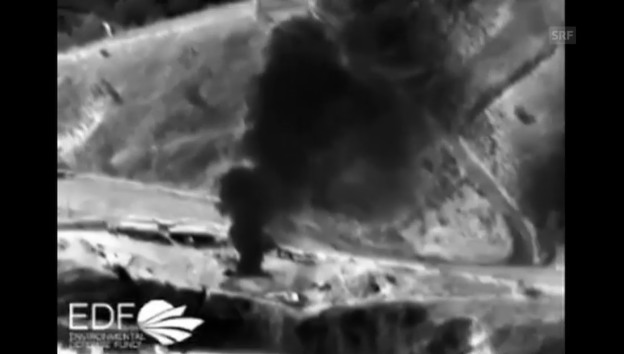 Video «Infrarotbilder zeigen den Gasaustritt (unkommentiert)» abspielen